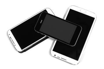 black and white smart phones