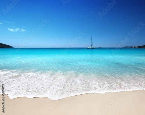 Sticker Anse Lazio beach at Praslin island, Seychelles