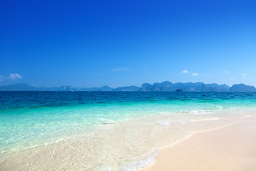 beach on the Poda island in Krabi Thailand