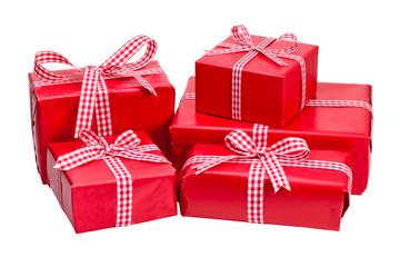 rote Weihnachtsgeschenke