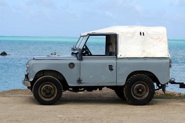 Land Rover Series II 88 on Aitutaki Lagoon Cook Islands