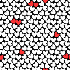 Cute romantic seamless pattern with hearts