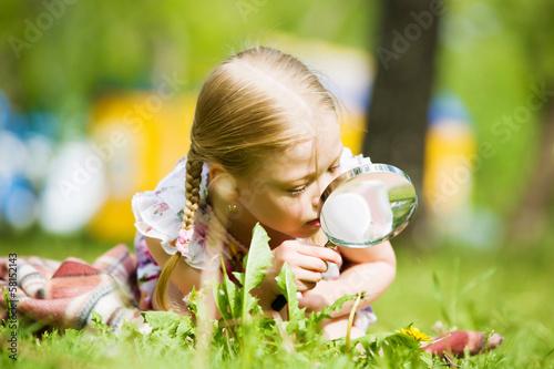 Girl in park