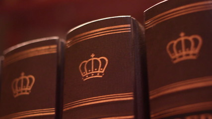 Book with a luxurious leather binding