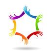 Leader Hands Vector Logo