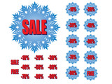 winter sale snowflakes vector illustration