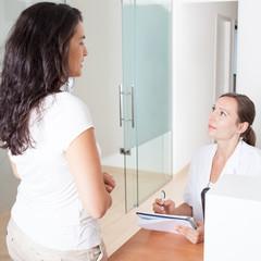 Patientin befragen