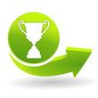 vainqueur sur symbole vert