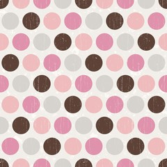 seamless retro polka dots