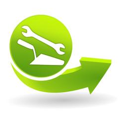 travaux sur symbole vert