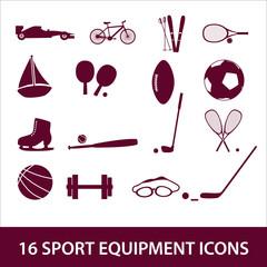 sport equipment icon set eps10