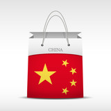 Shopping bag with China flag