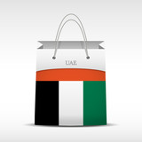 Shopping bag with flag UAE
