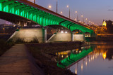 Slasko-Dabrowski Bridge at Dusk in Warsaw