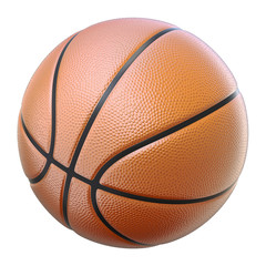 Basketball isolated on a white background