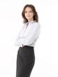 Confident Businesswoman On White Background