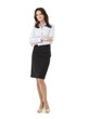 Confident Businesswoman On A White Background