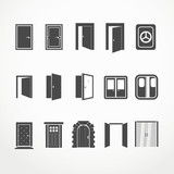 Different doors web icons collection