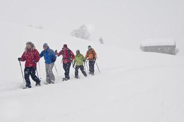 Schneeschuh-Tour im Schneesturm