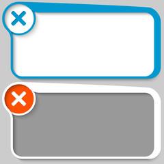 two vector text box and ban mark