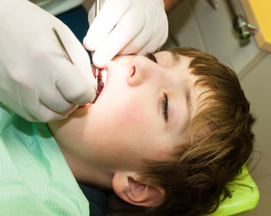 Young boy on dental examination