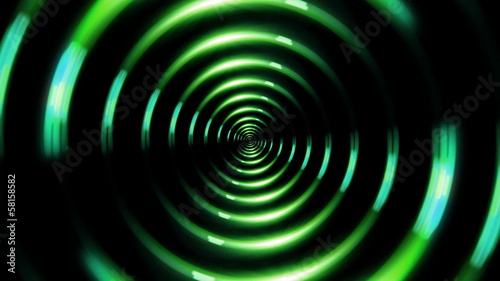 ring lens flare forward green