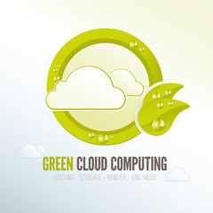 Green cloud computing badge for energy efficient technology