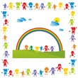 Kinder ~ Kids ~ Children in Aktion - Regenbogen