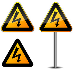 Warning electricity sign