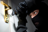 Thief Burglar opening  door