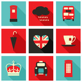 Fototapety London Icons Collection