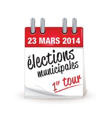 23 mars :électons municipales de 2014 en France - premier tour