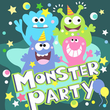 Monster-Parteiplakat