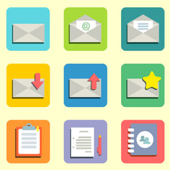 mail flat icons