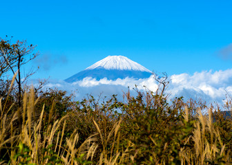 A view of Mountain Fuji from Owakudani, Hakone