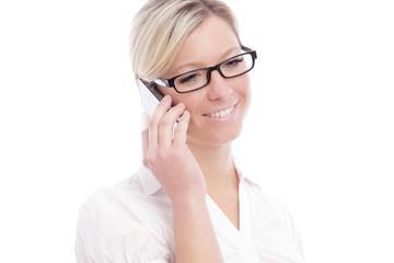 Attraktive Frau beim Telefonieren