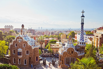 Views from the Parc Guell  Barcelona, Spain