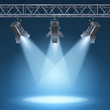 stage with lights - 58162776