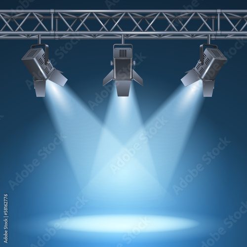 Poster Licht, schaduw stage with lights