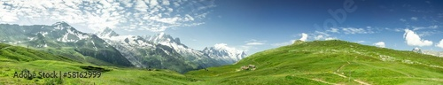 Deurstickers Alpen Panorama Mont-Blanc