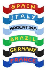 Ribbons countries