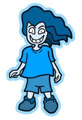 Blu girl