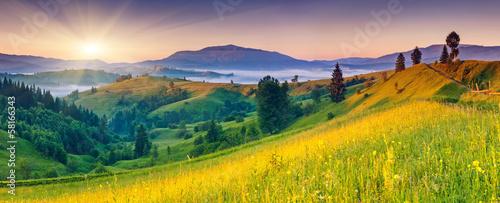 Gebirgslandschaften - Fototapete