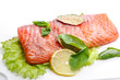salted salmon fillets
