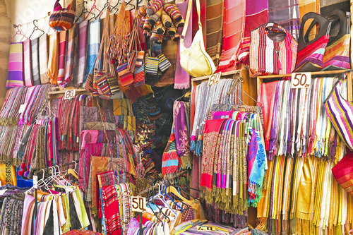 Handcrafts shop at the market in Morocco