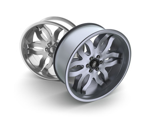 Car rims concept. Isolated on white