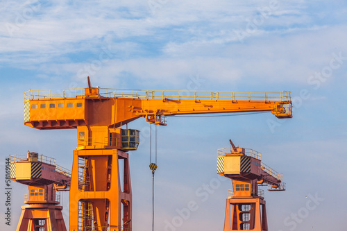 Shipyard Cranes in the morning