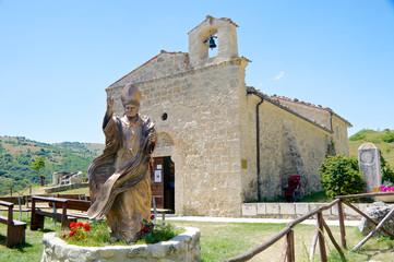 Statue of John Paul II, San Pietro della Ienca, Abruzzo, Italy