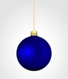 Blue Christmas vector bauble isolated