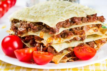 Italian dish lasagna